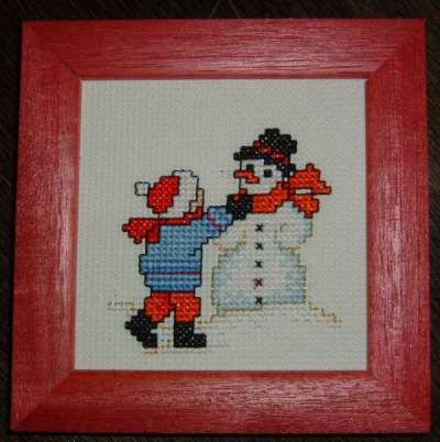 Cross-Stitch Winter, 1st motif