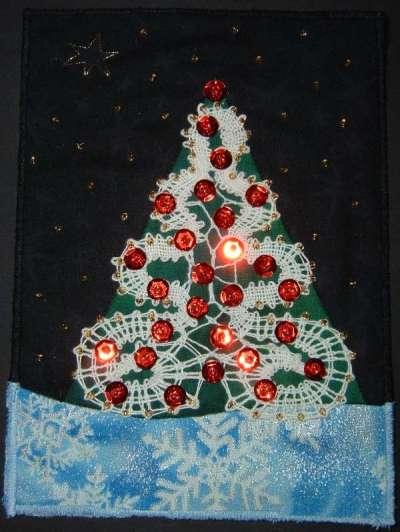 Bobbin Lace Christmas Card