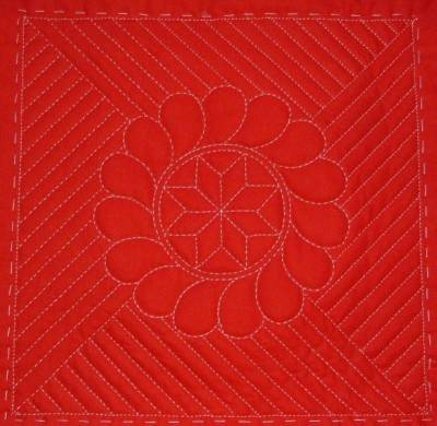 Hand-Quilted Pillow Cover - Whole Motif