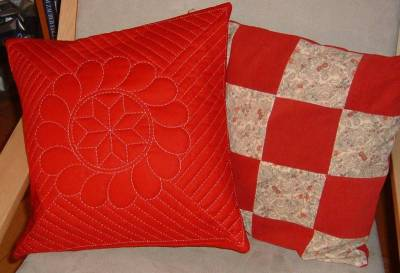 Hand-Quilted Pillow Cover - Finished