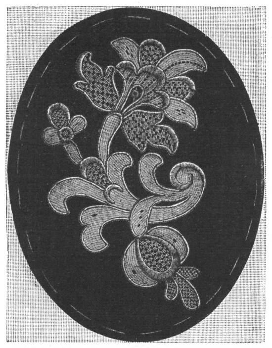 Venetian Lace Motif from the Encyclopedia of Needlework