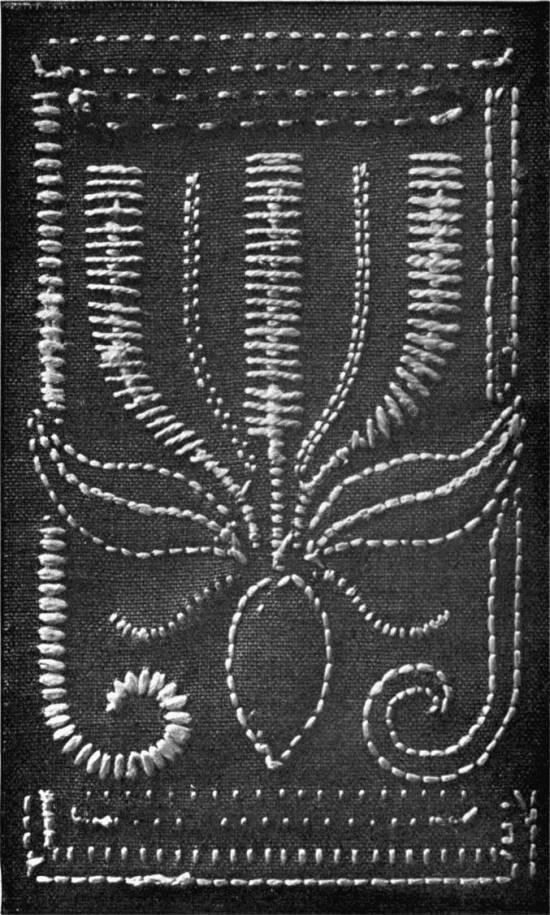 Backside of Herringbone Sampler from Art in Needlework