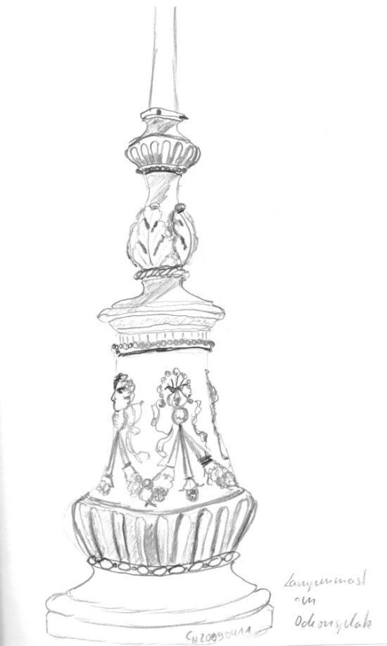 Ornamented Lamp Post