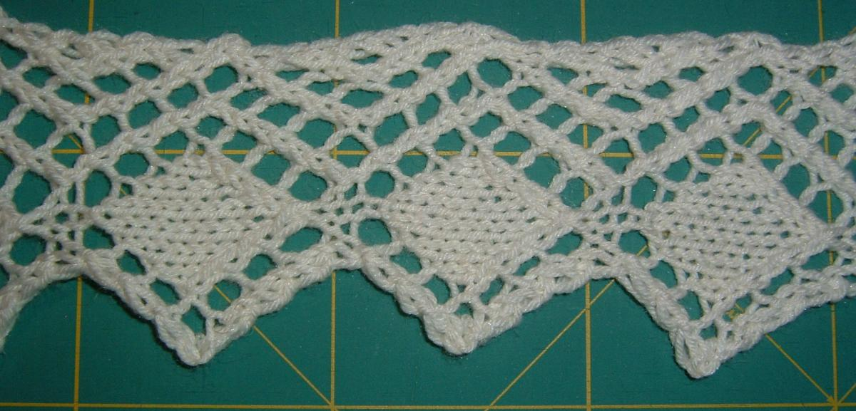 Knitted Lace Edging From The Encyclopedia Of Needlework Textile