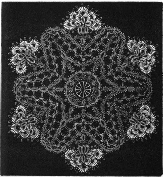 Corn Flower Doily from Bath Tatting Book