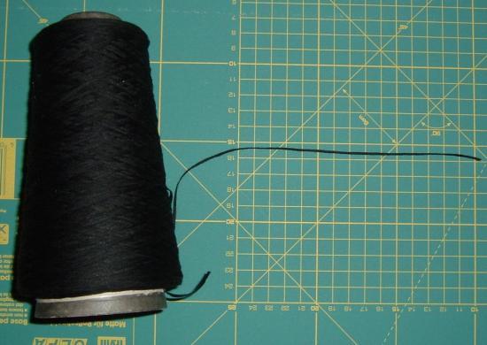 Black Couching Thread