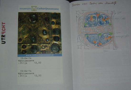 Catharijneconvent sketchbook page