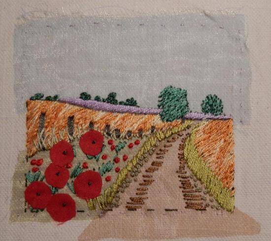 Poppy Bank embroidery