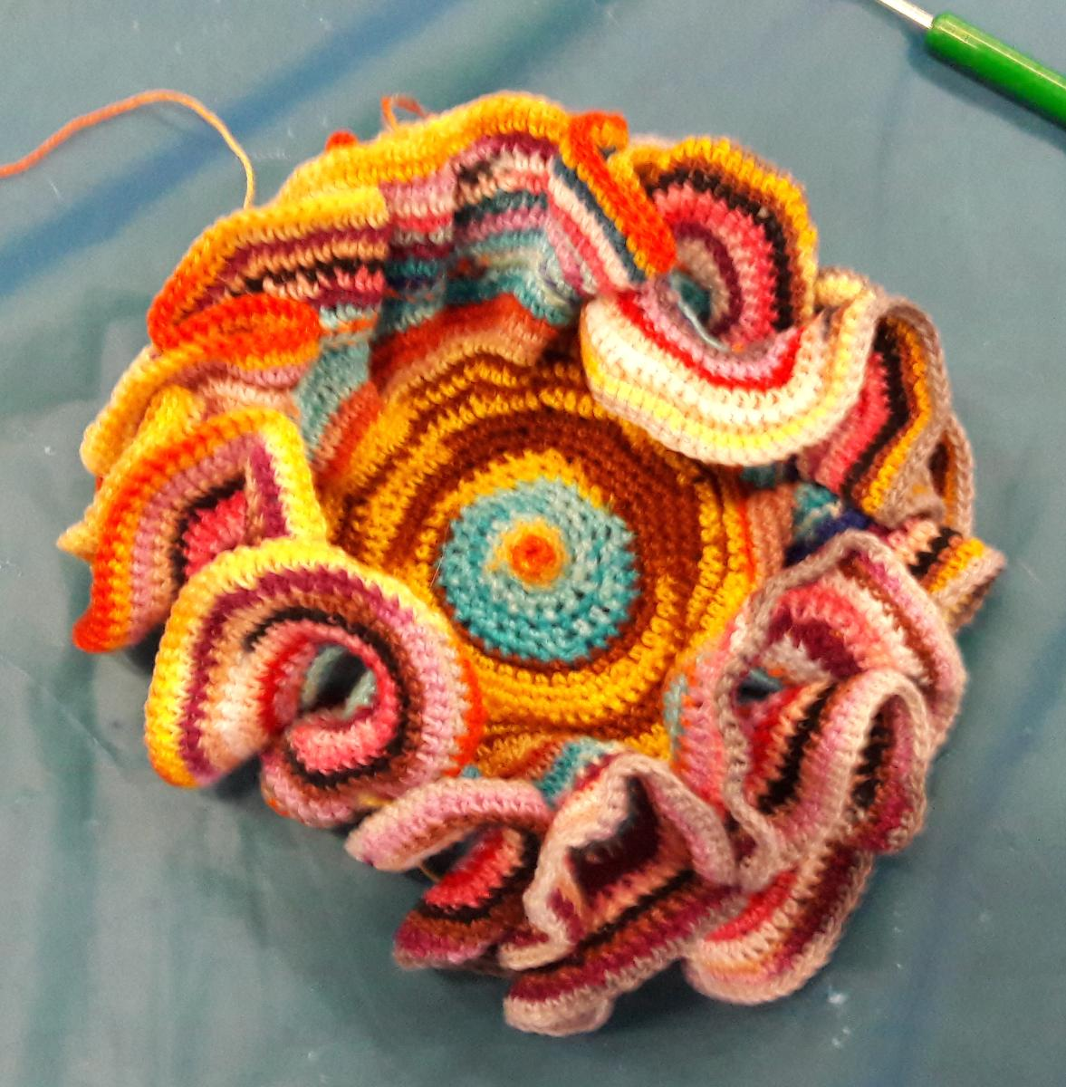 crocheted coral