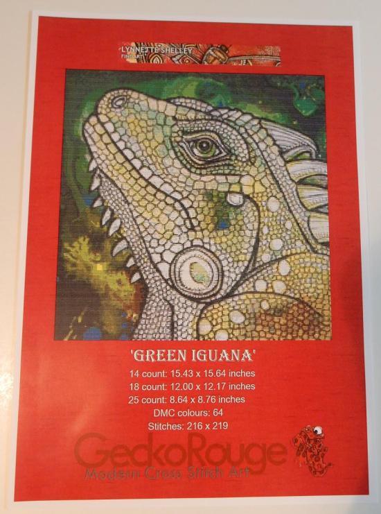 Green Iguana - Pattern