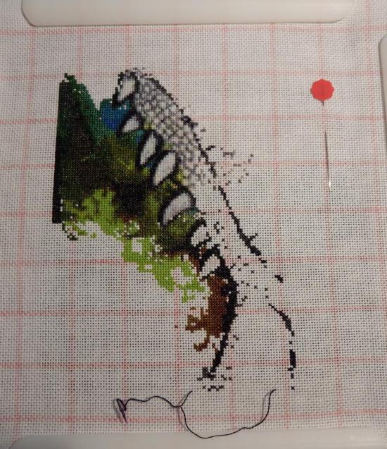 Green Iguana - Progress 2017-10-08