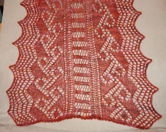 Scarf from Victorian Lace Today - Detail