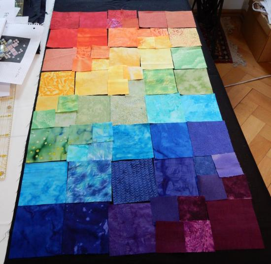 Rectangular layout of quilt.