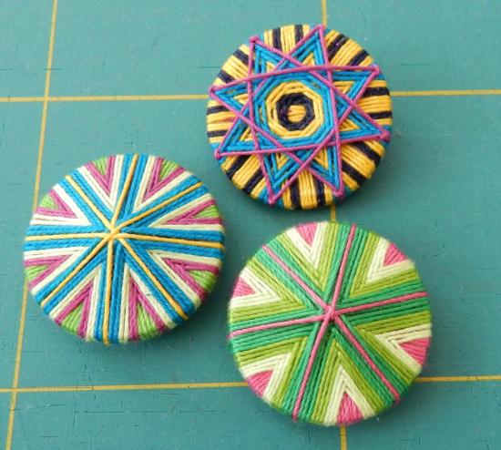 Yarn Buttons - Workshop at Textile Art Berlin 2019