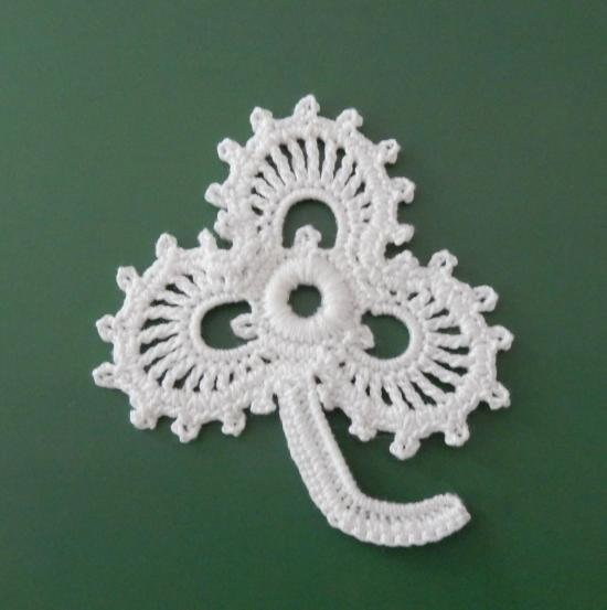 Irish Crochet Lace Shamrock