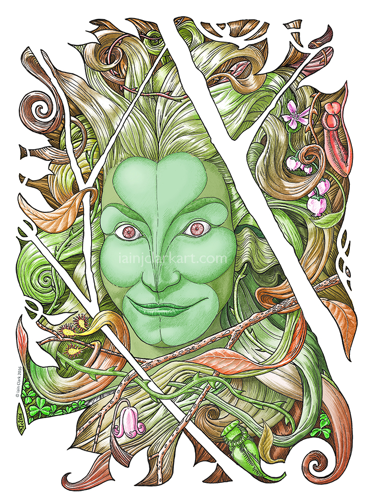 Green Woman - Original Artwork by Iain J. Clark, used with permission.