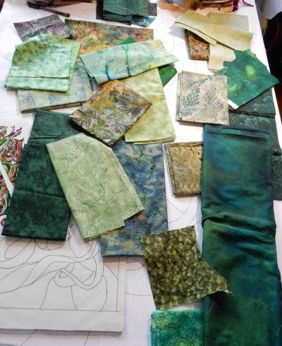 Green Woman - fabrics in all shades of green!