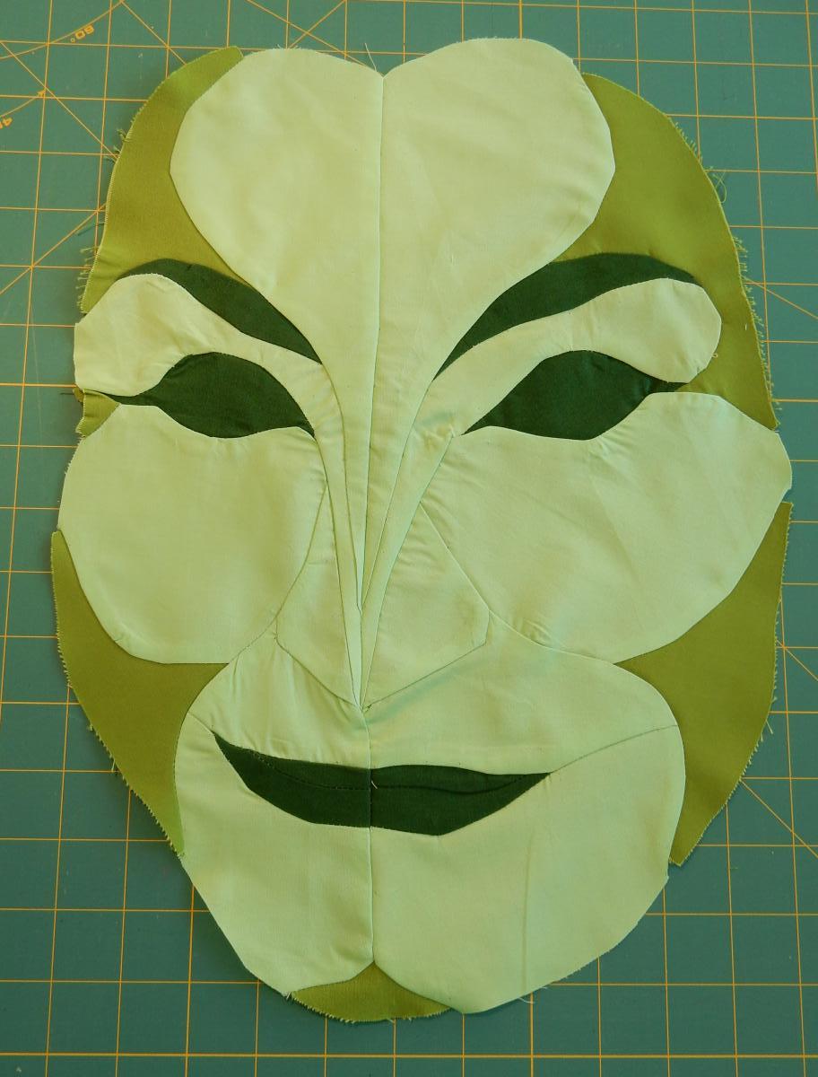 GreenWoman - Pieced Face
