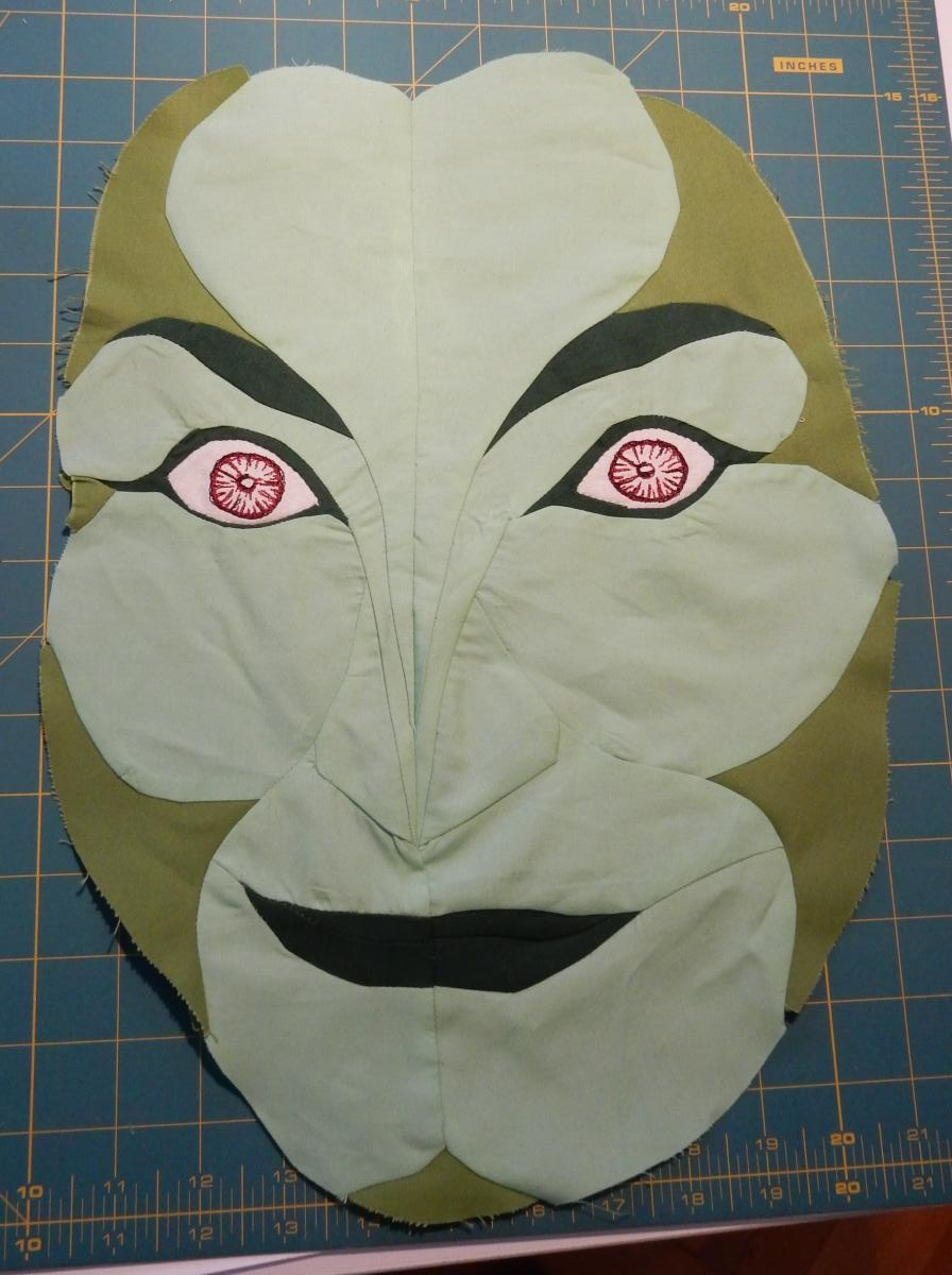 Green Woman - Finished Face