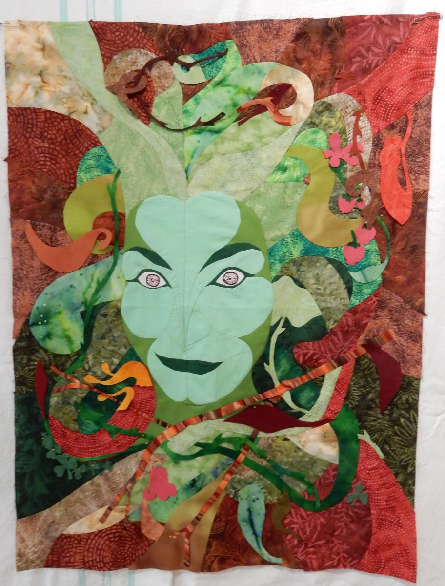 Green Woman - all the coloured bits added