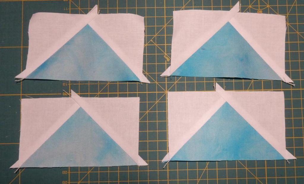 Four Flying Geese blocks